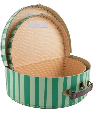 2 storlekar väska Melon resväska shabby chic lantlig stil