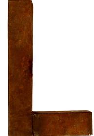 L - rostig i plåt 30 / 50cm