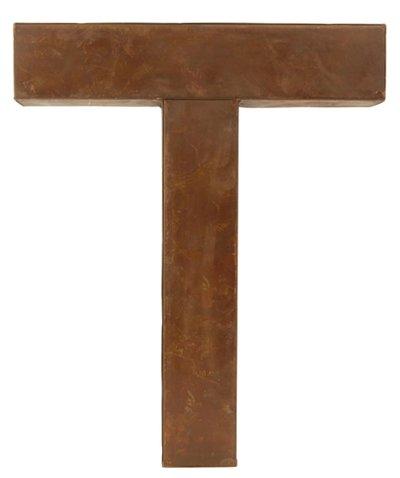 T - rostig i plåt 30 / 50cm