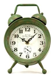 Bordsklocka antik stil väckarklocka shabby chic lantlig stil