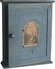 Nyckelskåp trä antik stil fransk lantstil shabby chic lantlig stil