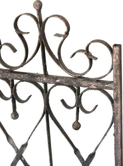 Fönsterdekoration jalusi insynsskydd antik stil mörkt smide shabby chic