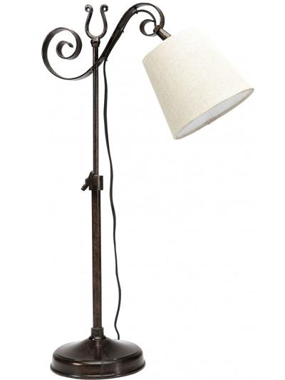 Bordslampa antik stil snirklig exkl tygskärm.