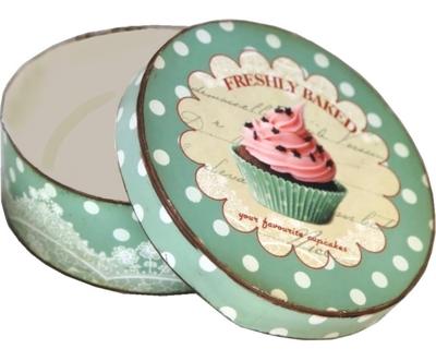 Fransk turkos plåtask cupcakes muffins shabby chic lantlig stil