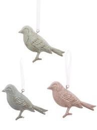Fågel plåt pastel grön blå rosa shabby chic lantlig stil