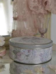 Stor Plåtburk kakburk handgjord Jeanne d´Arc Living shabby chic lantlig stil
