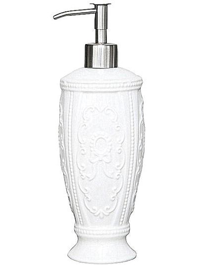 Tvålpump ornament vit porslin hög shabby chic lantlig stil fransk lantstil