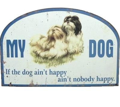 My dog plåtskylt hund