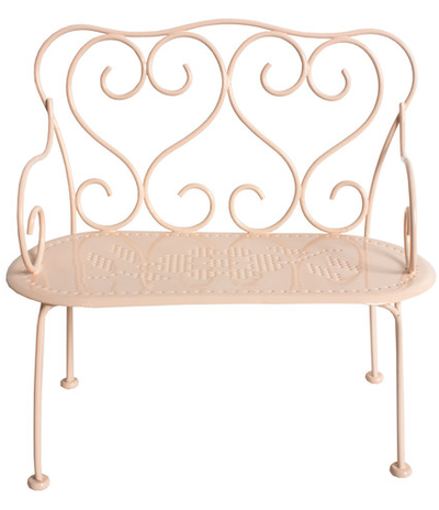 Rosa cafesoffa soffa smide Maileg shabby chic lantlig stil