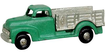 Grön lastbil retro bil leksak i gjutjärn shabby chic lantlig stil