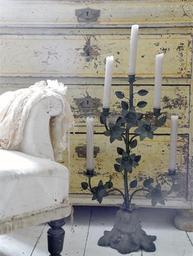 Kandelaber kyrkokandelaber Church candlestick Jeanne d´Arc Living shabby chic lantlig stil