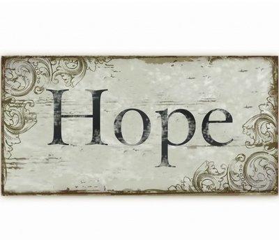 Plåtskylt Enjoy, Hope, Relax, Faith