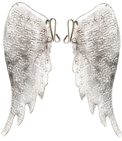 Änglavingar silver med krok shabby chic lantlig stil