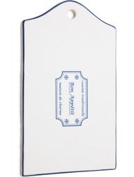 Porslinsskärbräda Bon Appetit vit blå shabby chic lantlig stil