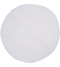 Rund stor vit matta badrumsmatta pluppar lantlig stil shabby chic