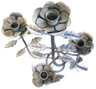 Stor kandelaber Rosor zinkgrå