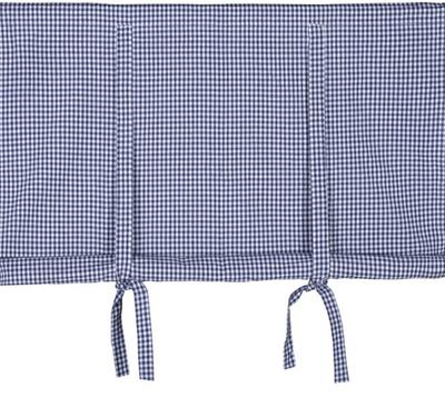 Blå vit rutig hissgardin 120-140cm lantlig stil marin