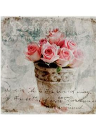 Tavla rosor i kruka 2 shabby chic lantlig stil