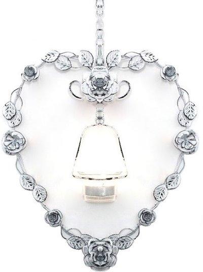 Hjärtformad lykta hjärta vit rosor romantisk shabby chic lantlig stil fransk lantstil