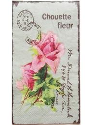 Servetter Rosor fransk lantstil shabby chic lantlig stil