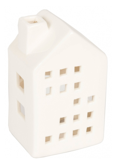 Ljushus huslykta mindre hus vit porslin shabby chic lantlig stil