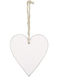 Vitt trähjärta hjärta shabby chic lantlig stil