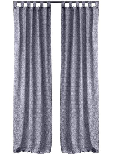 2 st Bolster gardinlängder grå med hank shabby chic lantlig stil