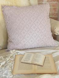 Handvirkat rosa puderrosa kuddfodral Spindel Jeanne d´Arc Living romantiskt shabby chic lantlig stil