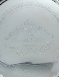 Stor bricka silver greengate silverbricka shabby chic lantlig stil fransk lantstil