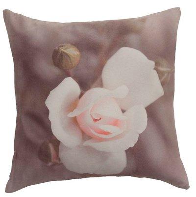 Kuddfodral rosa ros shabby chic lantlig stil