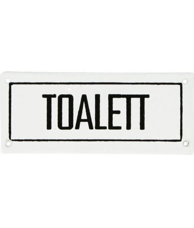 Toilet sign shabby chic country style