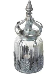 Ljuslykta krona zink metalldekor shabby chic lantlig stil