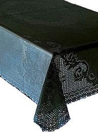 Ljuvlig svart spetsduk i vinyl shabby chic lantlig stil fransk lantstil