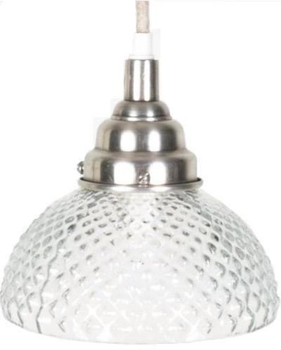 Lampa kotte kottelampa pressglas tygsladd