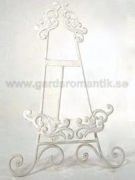 Kokbokställ kokbokshållare i vitt smide shabby chic lantlig stil