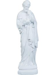 Stor skulptur Josef med barn shabby chic lantlig stil