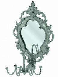 Smyckeshängare Barock med spegel för vägg shabby chic lantlig stil