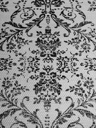 Trasmatta vit svart tryck shabby chic lantlig stil