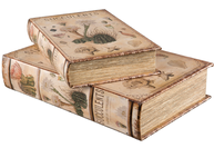 Bokask boklåda bokgömma gammal Flora bok fransk 2 storlekar shabby chic lantlig stil