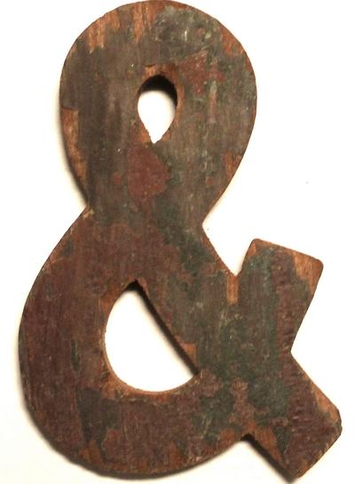 Handgjorda träbokstäver & återvunnet trä unik industristil shabby chic lantlig stil