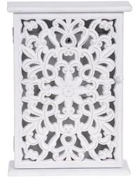 Nyckelskåp vit trä ornament antik stil fransk lantstil shabby chic lantlig stil