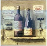 Servetter Vinflaskor fransk lantstil shabby chic lantlig stil