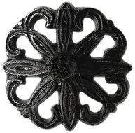 Mörk snirklig  knopp i antik-metall shabby chic lantlig stil