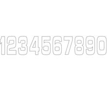 Siffror 10st, 11 X 5 cm, Vit 8