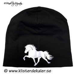 Reflexmössa Islandshäst fronttryck 11olika färger.
