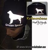 Mössa, Golden Retriever REFLEXTRYCK, 21 olika färgval.