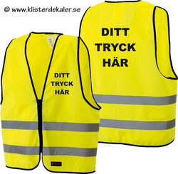 Reflective vest whit your own print. Yellow