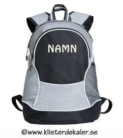 Backpack reflective- printed namne