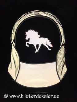 Backpack reflective Icelandic Horse