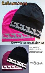 Reflexmössa Islandshästar i reflexram, 11 olika färger.